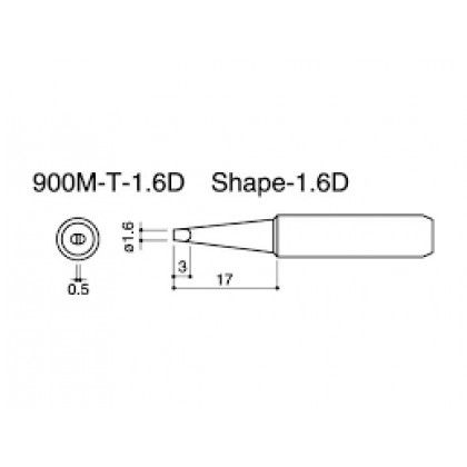 900M-T Series RoHS Soldering Solder Iron Tip Replacement For Hakko Soldering Station 936 / 936 / 937 / 938 / 942 / 951 / 969